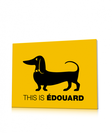 Deco enfant basset hound jaune This is Edouard
