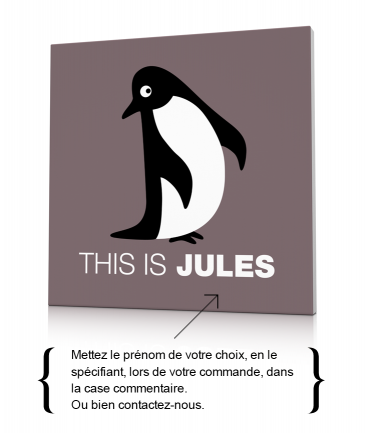 Déco murale pingouin taupe This is Jules