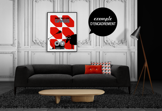 Animal poster red Stereo