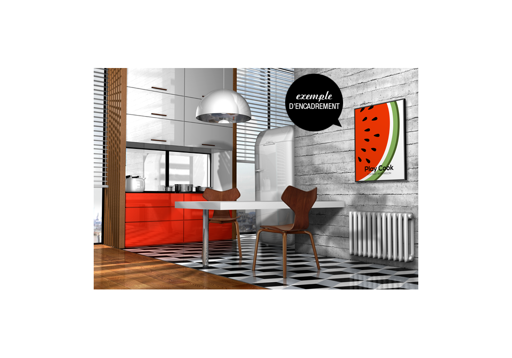 tableau cuisine design fruits sociable watermelon qorashai. Black Bedroom Furniture Sets. Home Design Ideas
