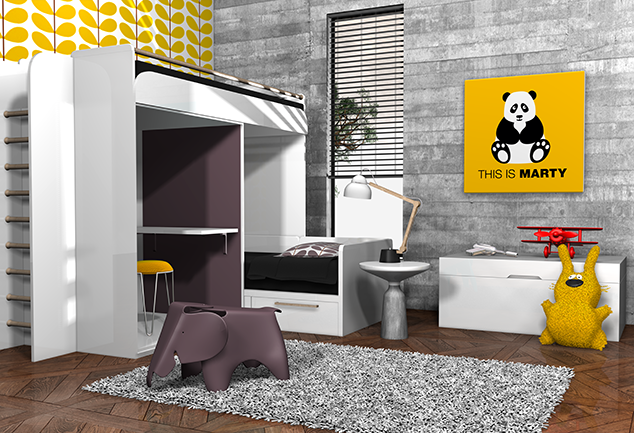 Tableau panda jaune chambre enfant This is Marty