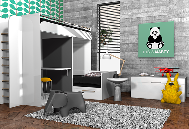 Tableau panda vert chambre enfant This is Marty