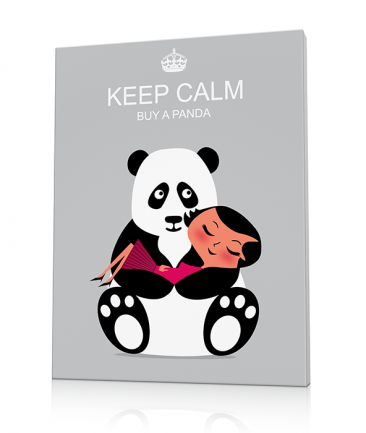 Deco panda gris Keep Calm
