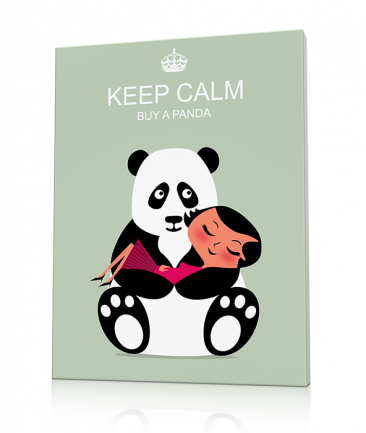 Toile deco panda Keep Calm