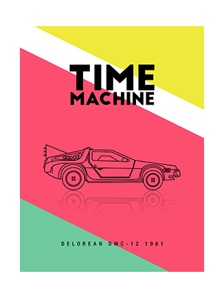 Poster Delorean Time Machine