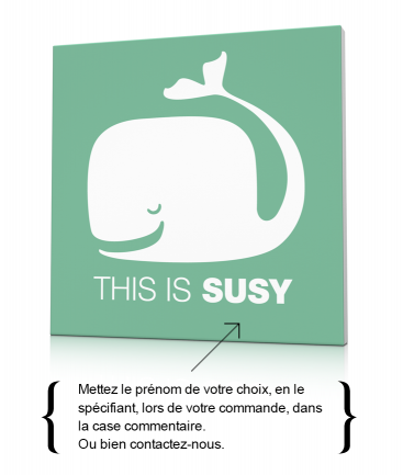 Toile murale avec une baleine This is Susy