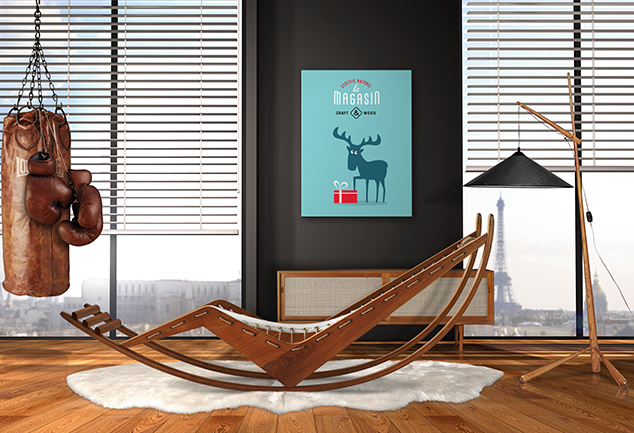 Deer art print decoration Oh my gift