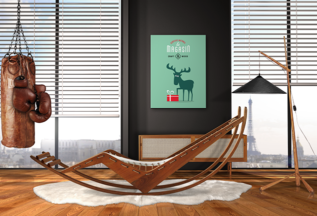 Deer art print for bed room Oh my gift