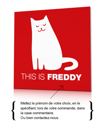 Toile chat moderne chambre enfant This is Freddy