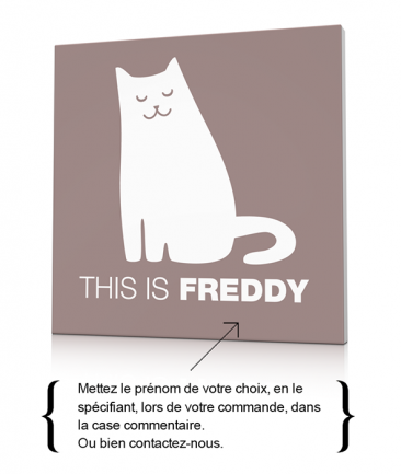 Toile chat décoration chambre enfant This is Freddy