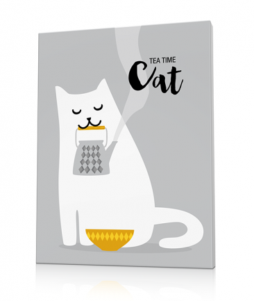 Tableau design coloré chat cuisine A drop of Milk