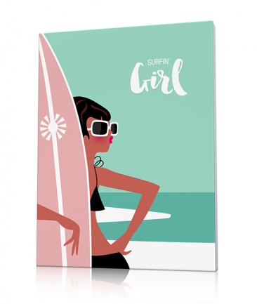 Deco surf plage surfin girl