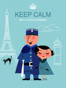Paris art prints Keep Calm