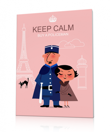 Tableau Policier Paris design rose Keep Calm