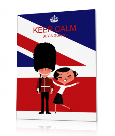 Tableau Londres Keep Calm