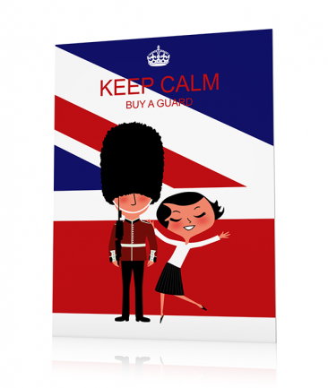 affiche Londres Keep Calm