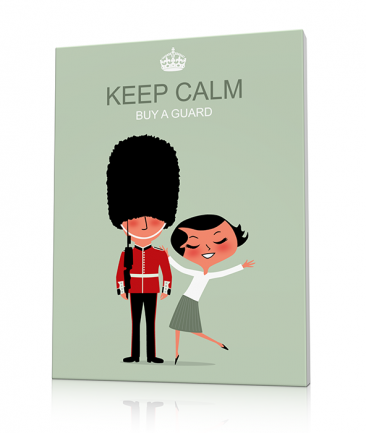 Tableau London moderne Keep Calm