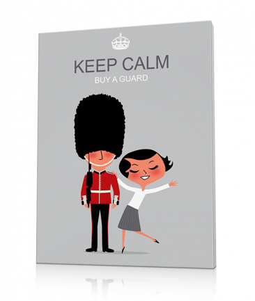 Tableau London deco Keep Calm
