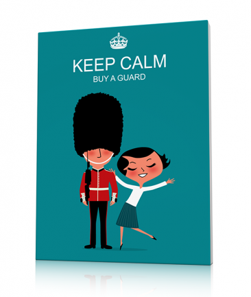 Tableau London bleu Keep Calm