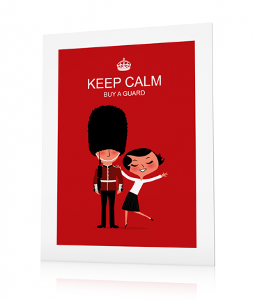 Poster London rouge Keep Calm