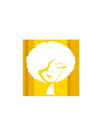 Tableau pop art afro jaune
