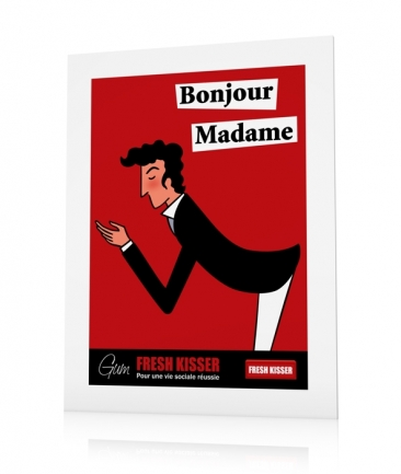 French vintage posters red