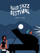 Jazz festival poster Bird`s Party