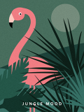 Flamingo art print Mood