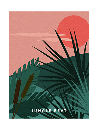 Tropical jungle poster Beat