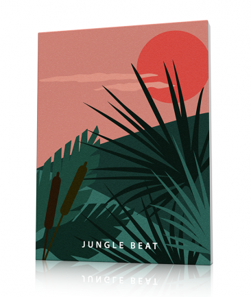 Tropical jungle poster Green