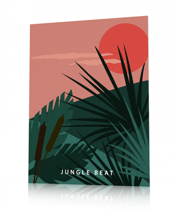 Exotic jungle art print Green
