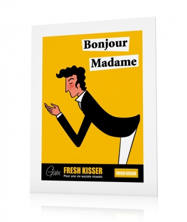 French vintage posters yellow