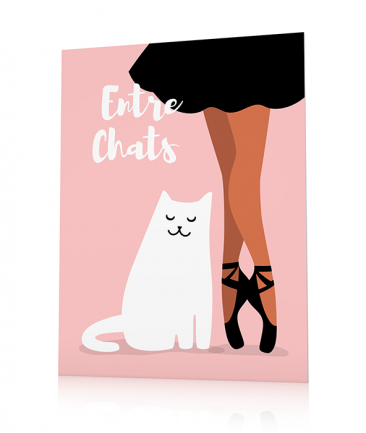 Girly poster pink Entrechats