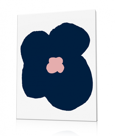 Modern flower art Blue