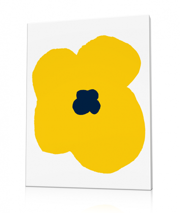 Modern flower art prints yellow