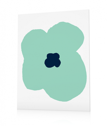 Contemporary flower poster Tovali