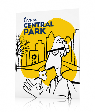 Poster Central Park Jaune
