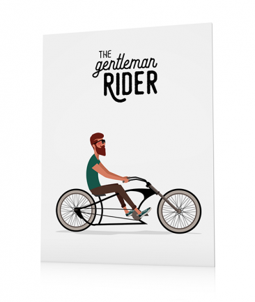 Poster velo chopper cruiser
