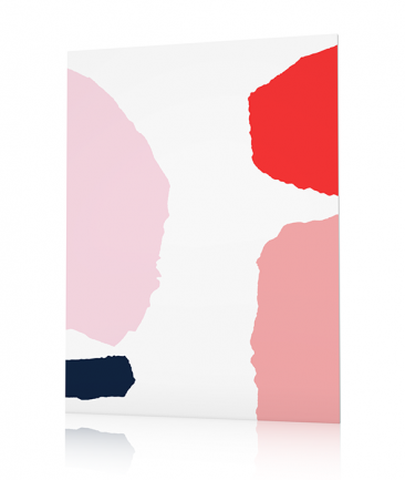 Abstract flowers poster Juwele