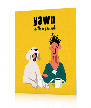 Kitchen art poster Yellow Yawn