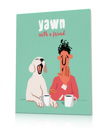 Retro Kitchen art prints Yawn