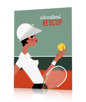 Poster chambre fille tennis