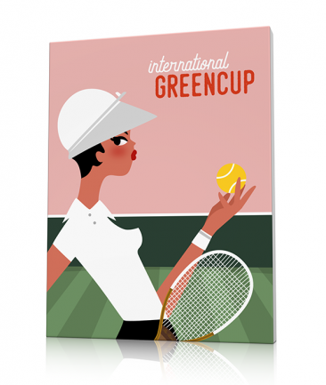 Vintage tennis art prints