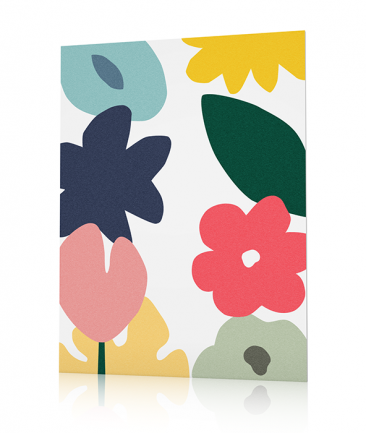 Modern flowers poster Blute