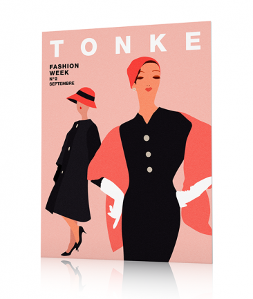 French Fashion Poster pink Tonke
