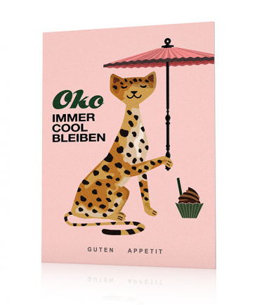 Poster animaux colorés rose Oko
