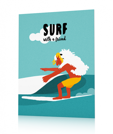 Surfing posters Blue