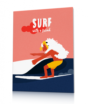 Vintage surf art prints