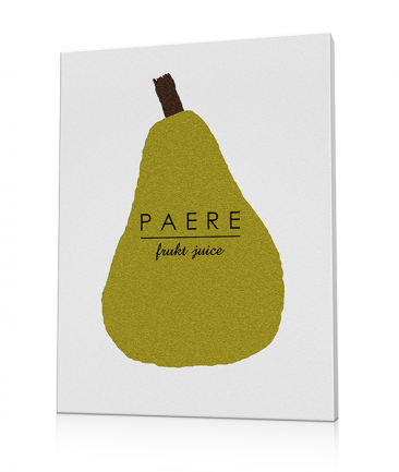 Kitchen Art canvas pear