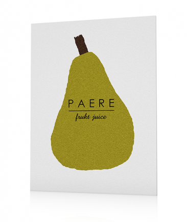 Fruits kitchen poster pear